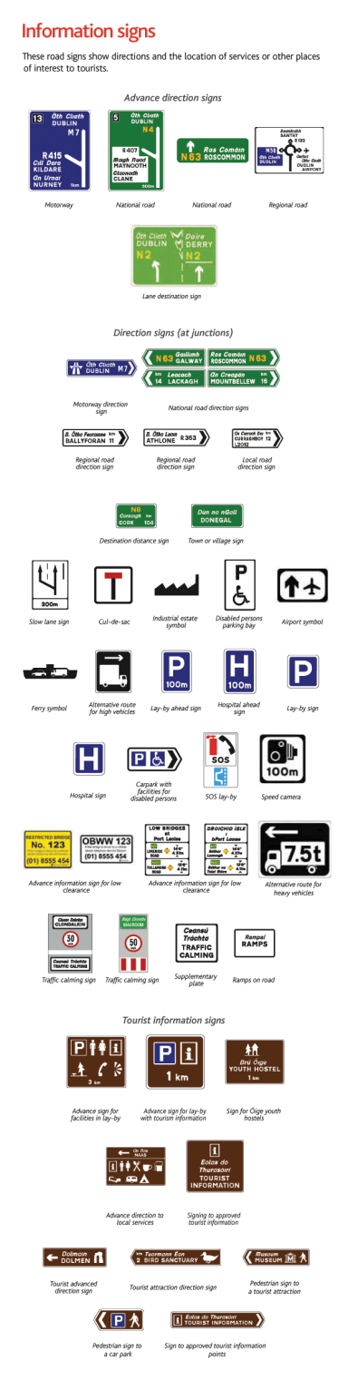 Information traffic signs