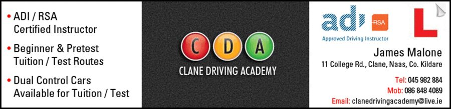 Clane Driving Academy Certification